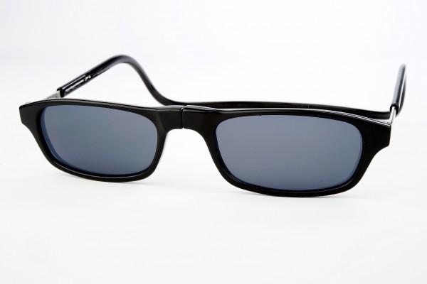 magneet leesbril zonnebril zwart van Spunx. klikbril zonnebril met magneetsluiting