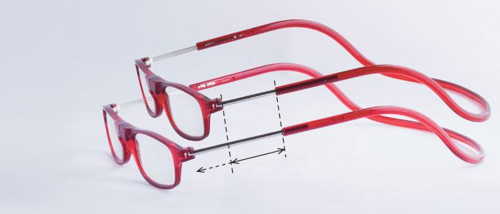 magneet leesbril classic heeft uitschuifbaar frame