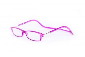 magneet leesbril limited edition roze. klikbril met magneetsluiting. magneetbril