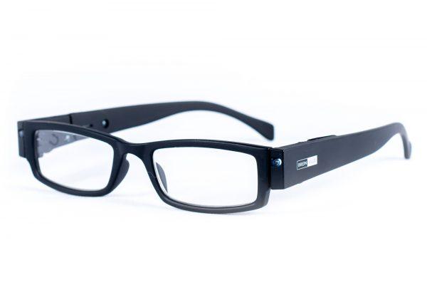 LED leesbril mat zwart. Bril met LED verlichting, leesbril met lampjes. Breinville voordelige leesbril. Goedkoop. Gratis verzending