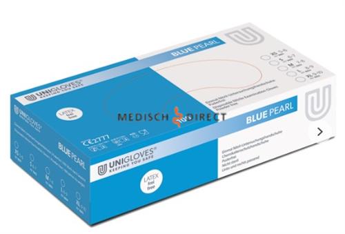 FHS HANDSCHOENEN POEDERVRIJ NITRILE BLUE PEARL X-LARGE (BLUE/100st)