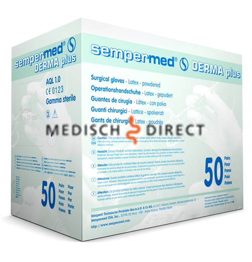 SEMPERMED DERMAPLUS LATEX MAAT 6,5 (50 paar)