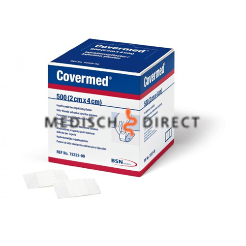 COVERMED INJECTIEPLEISTER 2 x 4cm (500st)