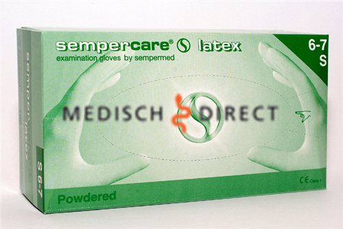 SEMPERCARE LATEX GEPOEDERD LARGE (100st)