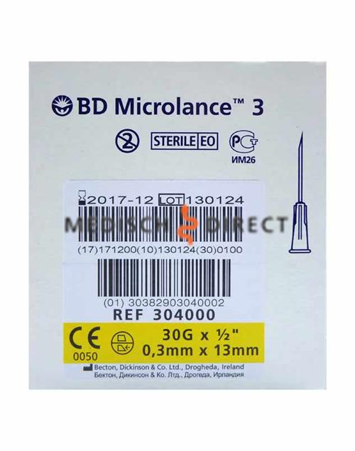 B&D MICROLANCE-3 NAALDEN 30G 0,30 x 13mm (100st)