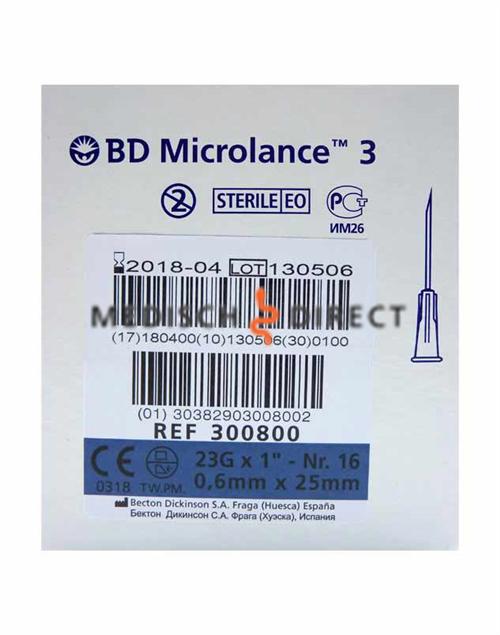 MICROLANCE NAALDEN 0,60 x 25mm ( 23G x 1 )(100st)