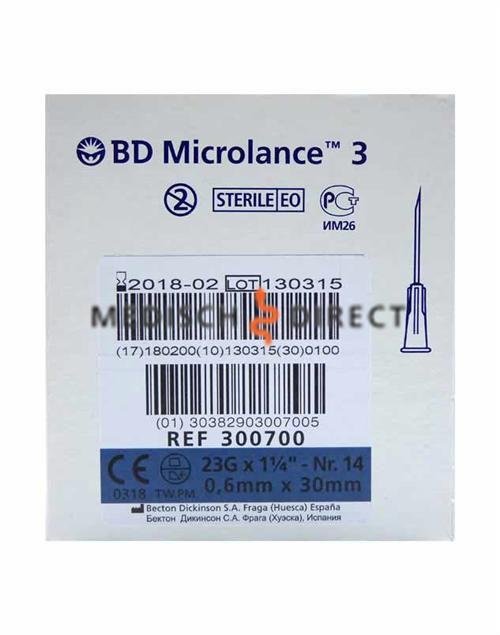 MICROLANCE NAALDEN 0,60 x 30mm ( 23G x 1,25 ) (100st)
