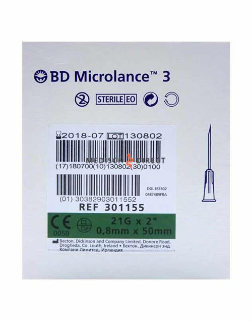 MICROLANCE NAALDEN 0,80 x 50mm ( 21G x 2 ) (100st)