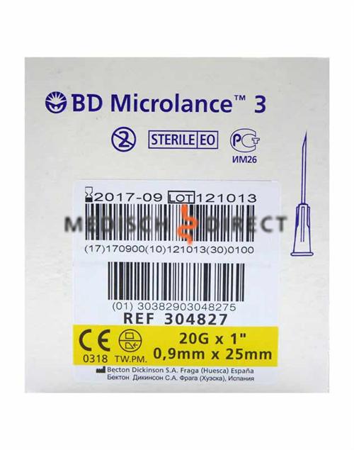 MICROLANCE NAALDEN 0,90 x 25mm ( 20G x 1 ) (100st)