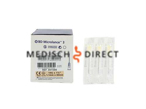 MICROLANCE NAALDEN 1,10 x 40mm ( 19G x 1,5 ) (100st)