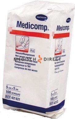 MEDICOMP NON-WOVEN 5 x 5cm NIET STERIEL (100st)