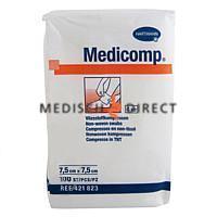 MEDICOMP NON-WOVEN 7,5 x 7,5cm NIET STERIEL (100st)