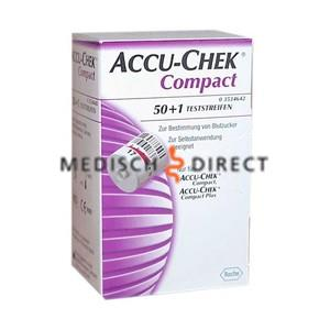 ACCU-CHEK COMPACT GLUCOSE TESTSTRIPS (51st)