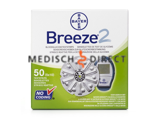 BAYERS BREEZE 2 TESTSTRIPS (50st)