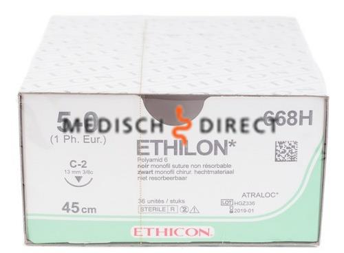 ETHICON ETHILON C-2 NAALD 5/0 668H  (36st)