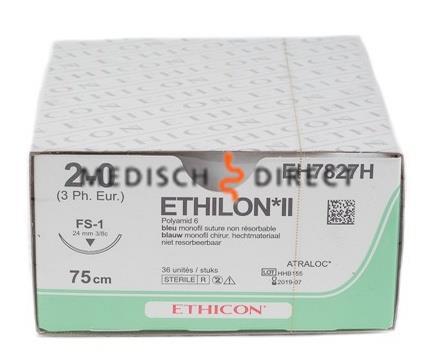 ETHICON ETHILON FS-1 NAALD 2/0 EH7827H  (36st)