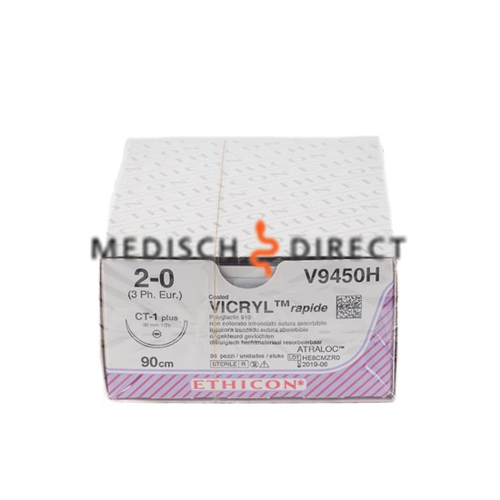 ETHICON VICRYL RAPIDE CT-1+ NAALD 2/0 V9450H  (36st)