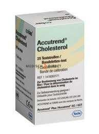 ACCUTREND CHOLESTEROL TESTSTRIPS (25st)