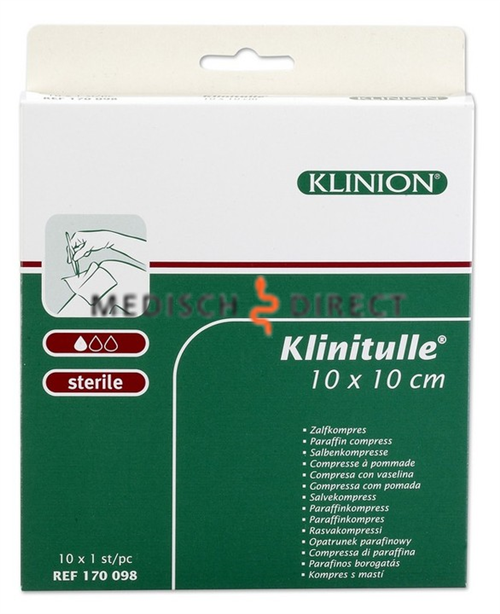 KLINITULLE ZALFGAAS 10 x 10cm (10st)