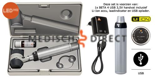 HEINE DELTA 20T DERMATOSCOOPSET + USB OPLADER K-262.28.388