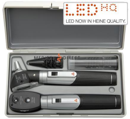 HEINE MINI 3000 LED OTOSCOOP + OPHTALMOSCOOPSET IN HARDCASE