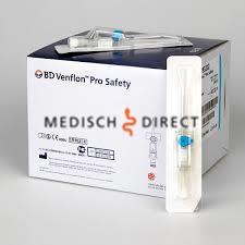 INFUUSNAALD VENFLON PRO-SAFETY BLAUW 22G x 25mm (1st)