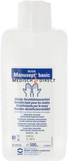 MANUSEPT HANDDESINFECTANS 500ml