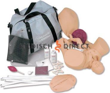 GEBOORTE SIMULATOR MET MODEL VOLDRAGEN BABY