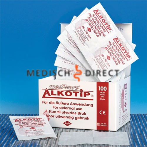 ALCOHOL SWABS LARGE 90 x 110mm  (100st)