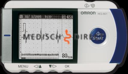 OMRON HEARTSCAN HCG-801-E ECG APPARAAT INCLUSIEF SOFTWARE EN SD KAARTLEZER