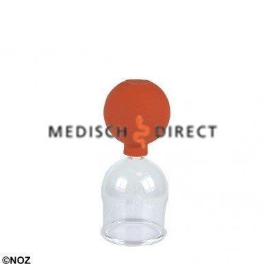 CUPPING GLAS MET BALLON MAAT 4, DIAMETER CA. 5,0cm