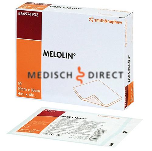 MELOLIN ABSORBEREND WONDKOMPRES 10x10cm (10st)