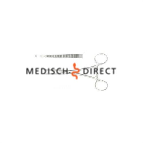 AESCULAP ARTERIEKLEM RECHT KOCHER 1x2 TANDEN 14cm BH614R