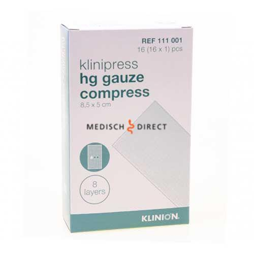 Klinion HG COMPRES 1/16 STER KLIN 111001 16X1ST