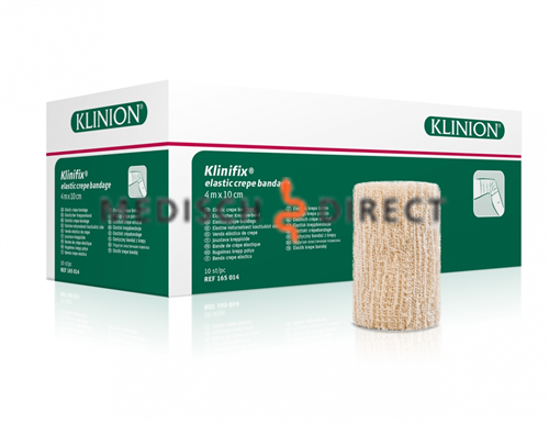 Klinion klinifix crepe elastisch fixatiewindsel 4mx5cm 132330 p/10