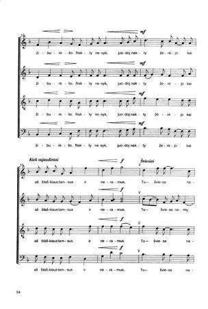 Dainos mišriems, moterų ir vyrų chorams