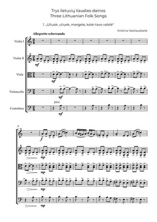 Three Lithuanian Folk Songs