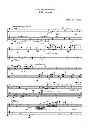 Silhouette. Lietuvių muzika smuikui solo
