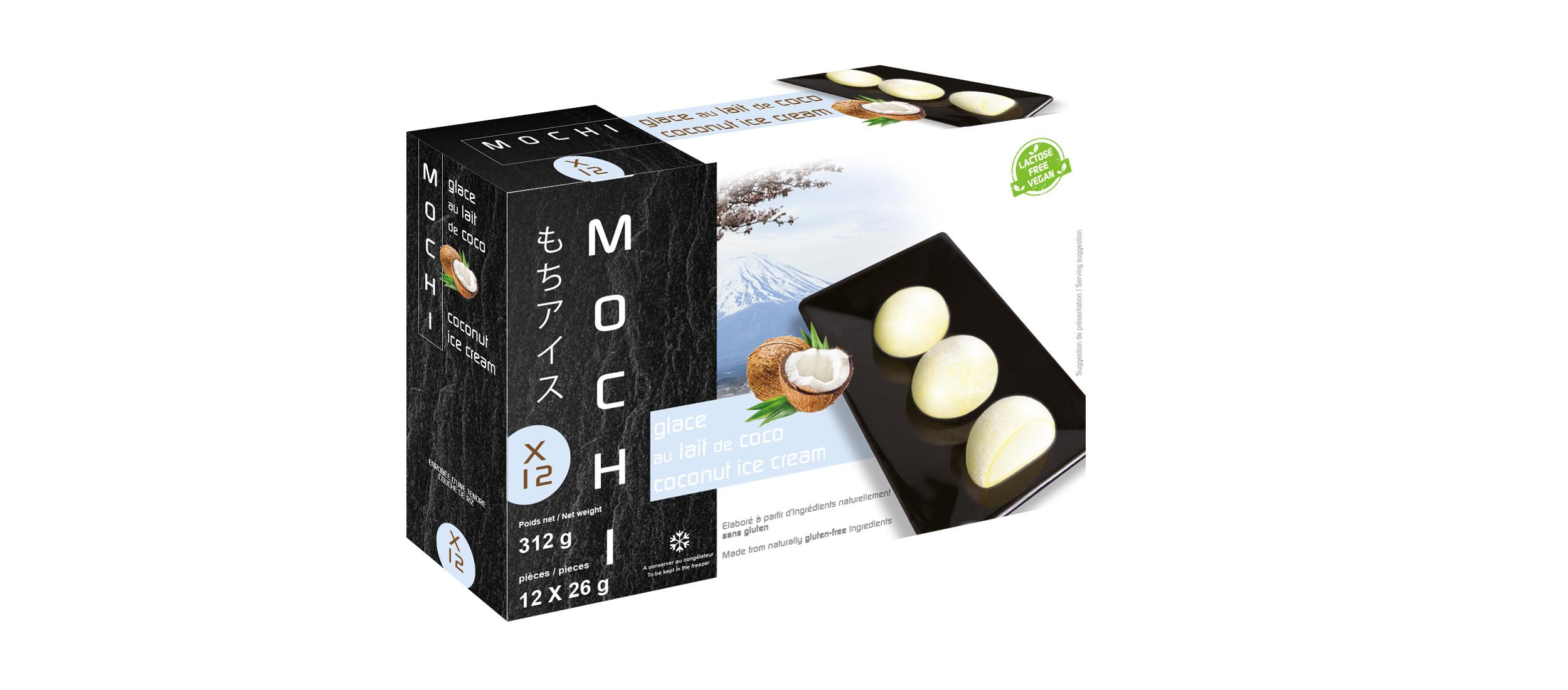 Mochi glacé à la noix de coco