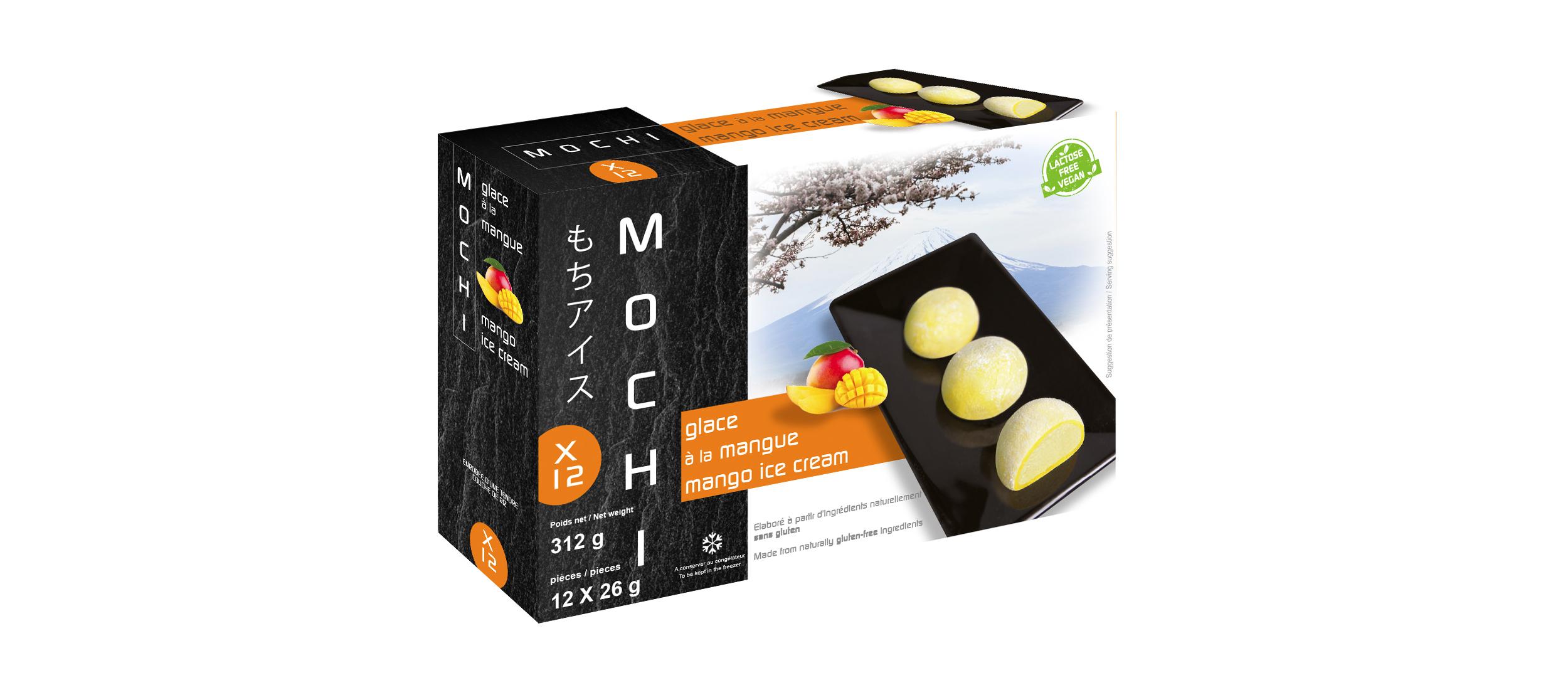 Mochi glacé à la mangue