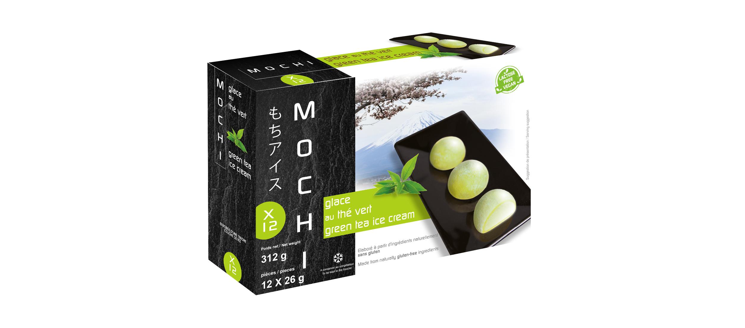Mochi glacé au thé vert
