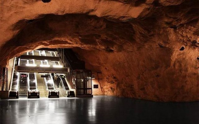 stockholm cave subway