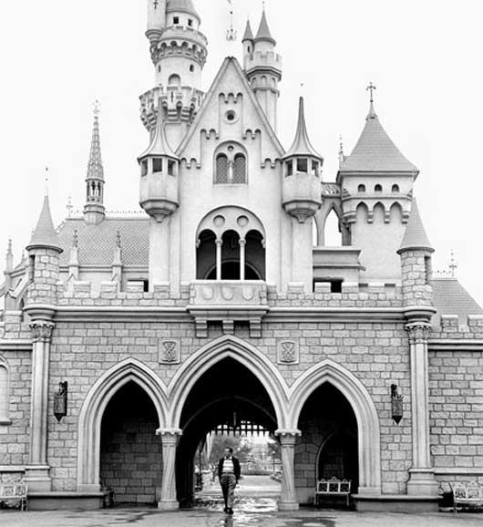 walt disney and his castle