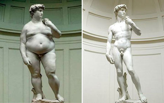 Michelangelo's David after three months in the US