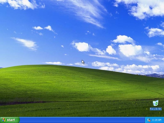 windows xp screen