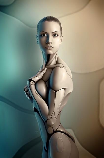 robot puppet woman