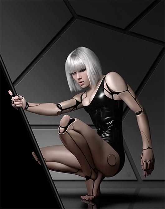 robot puppet woman 2