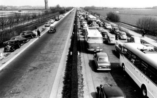 First traffic jam in the Netherlands