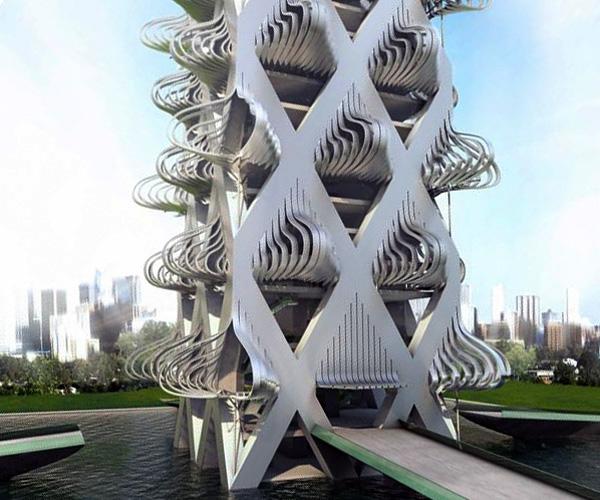 Kinetic architecture for Movement architecture concept