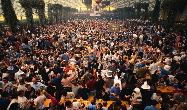 Munich Beer Hall During Oktoberfest